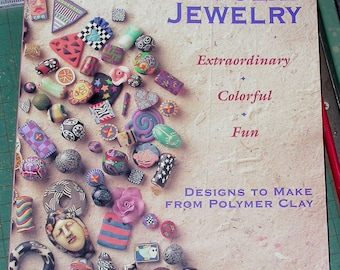 Creative Clay Jewelry book by Leslie Dierks, includes 6oz FIMO soft polymer clay