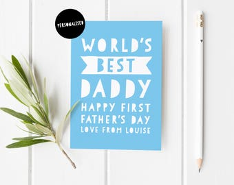 First Father's Day Card, Personalised Father's Day Card, Cute Father's Day Card, Father's Day From Bump, First Time Dad Card, Fathers Day
