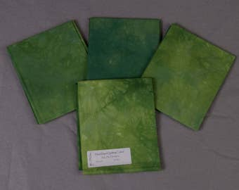 Green Hand-Dyed Quilting Cotton Fat Quarter