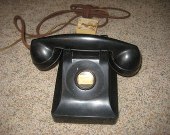 1940s Vintage Bell System  Desk Telephone  by Western Electric.
