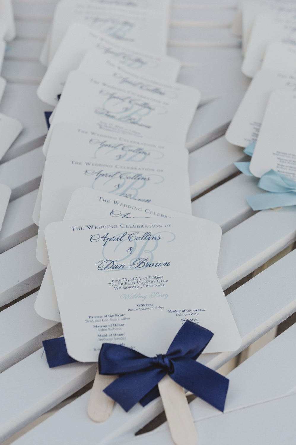 Navy Wedding Programs Wedding Program Fans Nautical Wedding