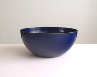 Vintage Arabia Finel Purple Blue Wide Enamel Bowl Finland