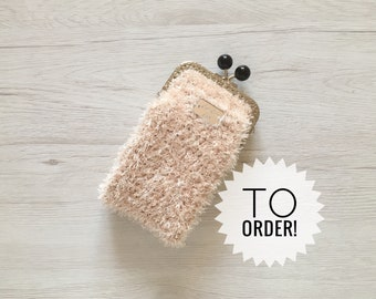 Hand-made cell phone, CLAC click-Close eyewear, gift idea, vintage style eyewear case