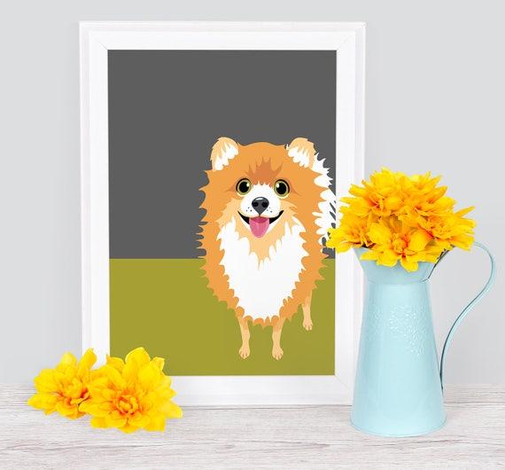 Pomeranian Print Wall Art Dog Print Fine Art Pomeranian