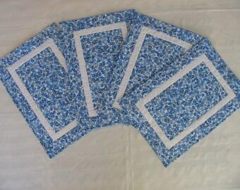 Placemats - BLUE FLOWERS