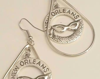 New Orleans Tear Drop Earrings
