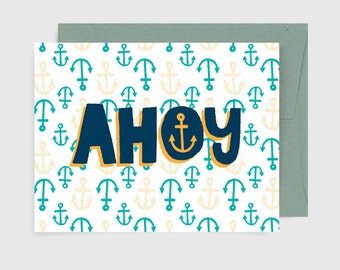 Everyday Card - Ahoy Pattern