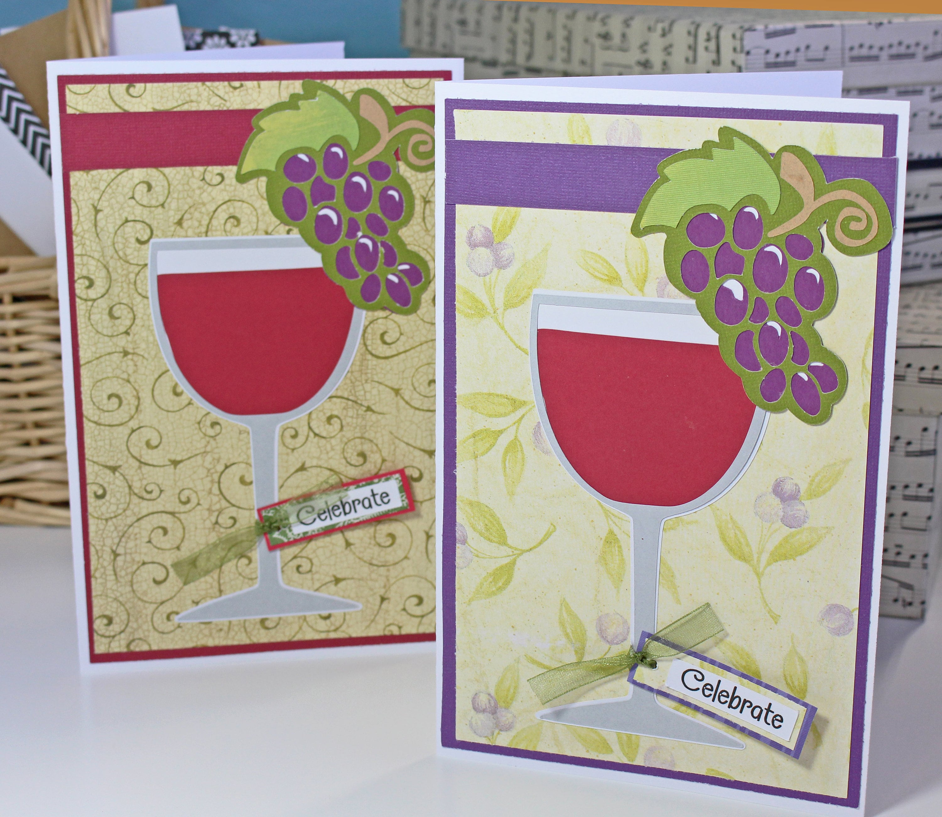 Wine Glass Handmade Greeting Card Birthday Special Occasion