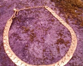 Goldtone vintage Trifari choker necklace