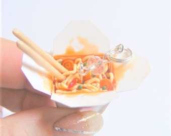 Food Jewelry Chinese Takeout Necklace, Miniature Food Pendant  Mini Food Jewellery, Food Necklace Polymer Clay food, Chinese Food Jewelry