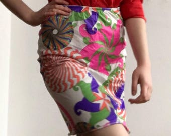 60's psychedelic slip skirt