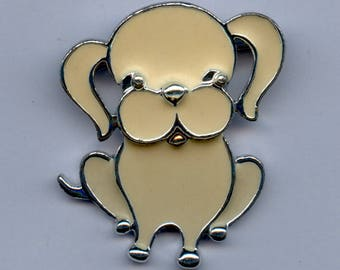"""Sarah Coventry """"Puppy Love"""" Brooch-C.1973"""