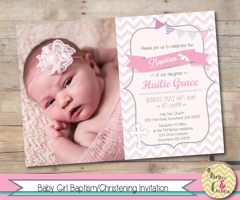 Girl baptism invitation printable christening invite zoom stopboris Choice Image