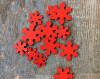 Red Snow snowflake snowflakes sticker 12 red Christmas Christmas stickers