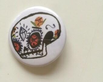 Sugar Skull Pin Badge