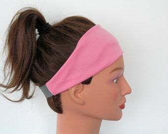 PINK yoga headband- workout headband- hair band-exercise headband- fitness headband