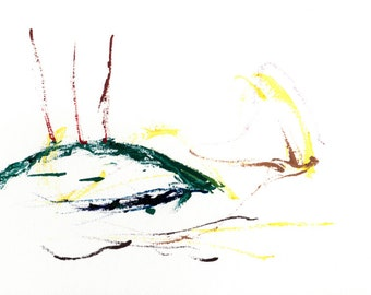 The Tortoise Who Should - Abstract Watercolor Painting Print