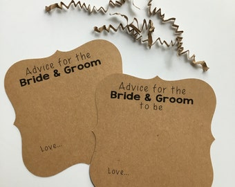 Well Wishes for the Bride / Groom, Advice Cards for the Bride / Groom, Words of Wisdom for the Couple