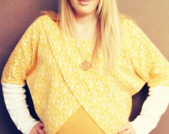 PATTERN 'KIJI' Kimono Sweater Xs-Xxl AF1403