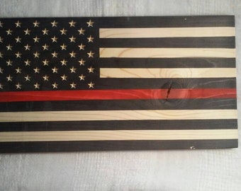 Thin Red Line Flag Firefighter Axe Sign Firefighter Gift