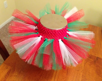 Christmas tutu, holiday tutu, glitter tutu, newborn tutu, infant tutu, red tutu, green tutu, white tutu, black tutu, blue tutu, pink tutu