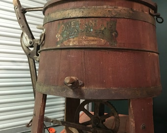 Antique Wood Washing Machine One Minute Washer Newton Iowa Shipping is Not Free