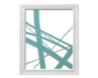 Line Abstract Print, Line Print, Minimal Wall Decor, Abstract Art, Aqua Print, Minimal Print, Zen Print, Zen Art, Blue Art, Contemporary Art