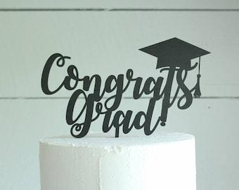 Congrats Grad Cake Topper Graduation Cake Topper