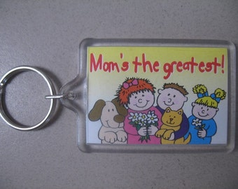 Mom's The Greatest Keychain