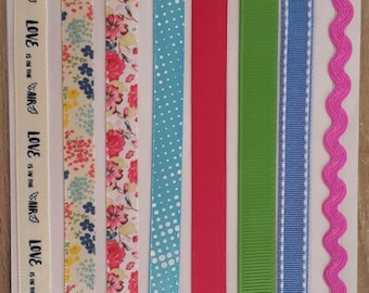 Ribbons of deco stickers