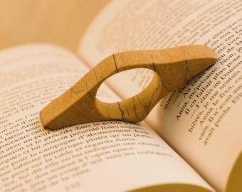 Thumb ring book holders Beech - 1