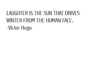 Victor Hugo Quote Digital Paper