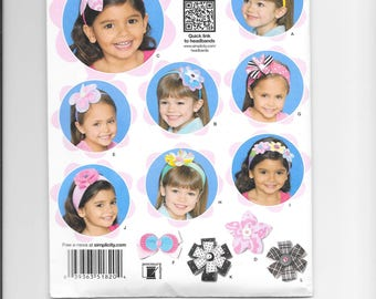 Simplicity 1820 - Headbands for Little Girls