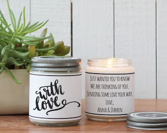 With Love Candle Greeting - I Love You Gift / Romantic Gift / Boyfriend Gift /Valentine's Day Gift/Husband Gift / Hugs and Kisses Gift