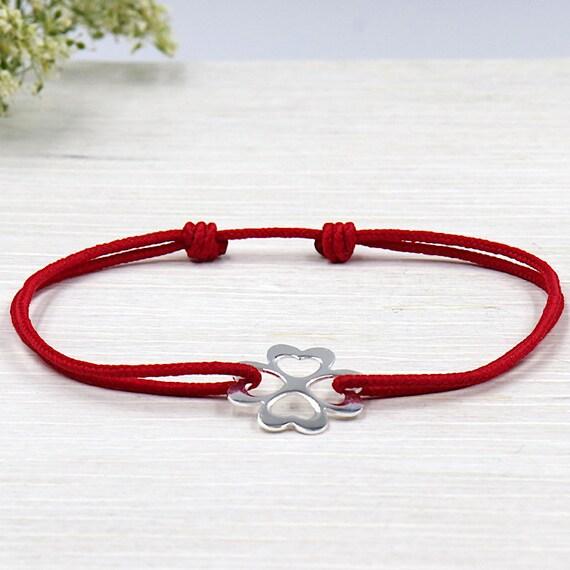 Bracelet Silver 925 clover bead