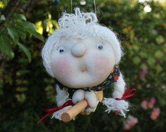 Adelhaide the Kitchenwitch, folklore. Good luck doll for your kitchen & home!