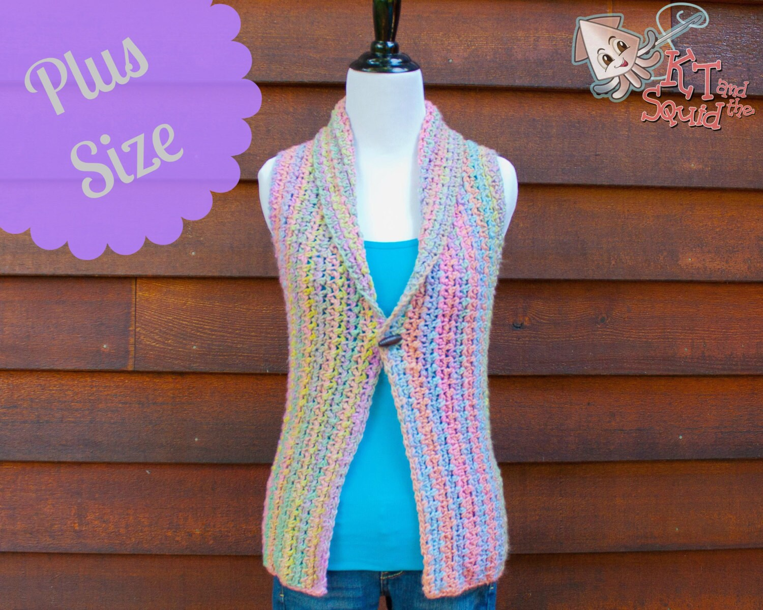 Crochet vest Pattern, Womens plus size top pattern, Crochet vest ...