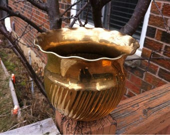 Brass Planter - Brass Succulent Pot Planter  - Brass Hammered Ornate Planter - Made in India -Indoor Brass Planter