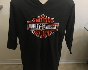 Vintage Harley Davidson Football jersey size medium large