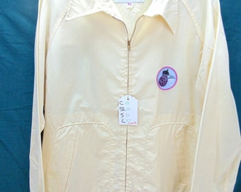 1970's McGregor Drizzler (42) Yellow SURFER Patch light weight Vintage Jacket Chest inches