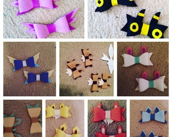 Eeveelution Felt Hair Bows Inspired by Pokemon