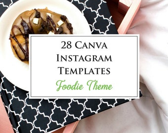 28 Canva Instagram Templates With a Foodie Theme  - Foods, Baked Goods, Baking, Fresh