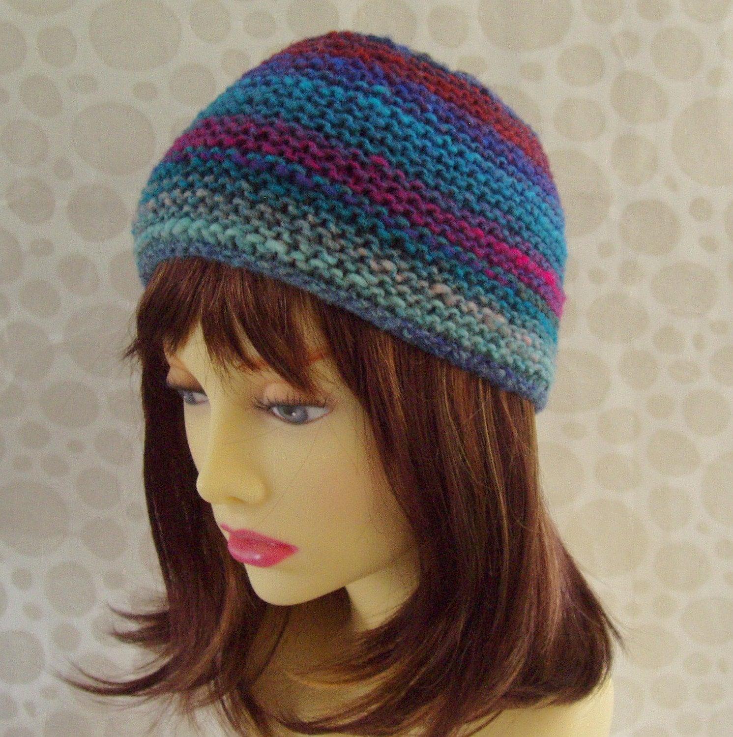 KNITTING Pattern/ SANTA FE/ Mans Hat in Luxury Noro Wool/Knit Round ...
