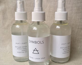 AIR trio Room & Linen Sprays: white sage, palo santo and hinoki