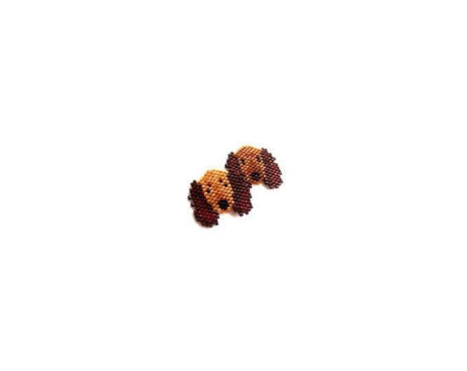 Dachshund Dog Brick Stitch Beading Pattern - Doxie