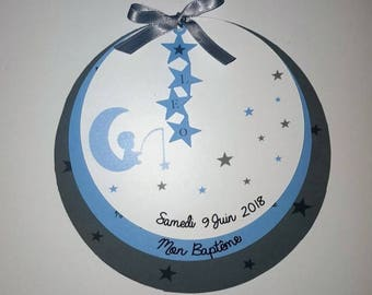Share baptism Moon Star Blue gray in KIT