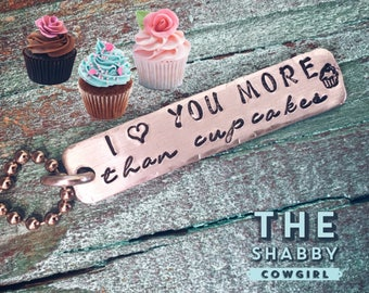 I Love You More Than Cupcakes - necklace