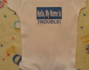 Baby onesie with funny saying
