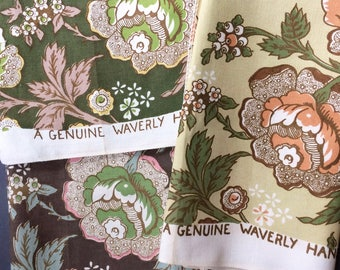 3 Vintage Fantasy Floral Jacobean Pattern Heavy-Weight Fabric Samples Andover by Waverly