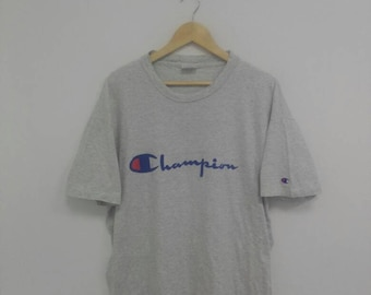 vintage champion big logo spell out XL usa size